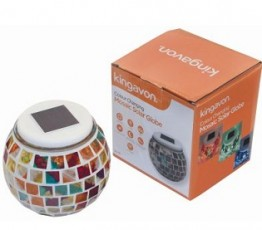 Solar Mosaic Colour Changing Globe