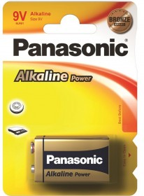 Panasonic 9V LR22 Alkaline Batteries - Box of 10