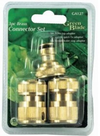 Brass Tap Connector Set - 3 Piece
