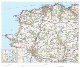South West Coastal Walking and Cycling Map Covering Bucks Combe Martin