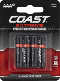 Coast AAA LR03 Battery 4 Pack