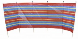 6 Pole Standard Windbreak Blue/Red x 6