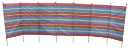 8 Pole Standard Windbreak Blue/Red x 6