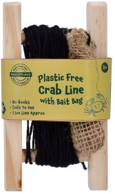 Wood Crab Line with Bait Bag - Plastic Free