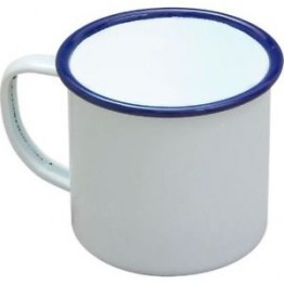 White Enamel Mug  Pack of 6