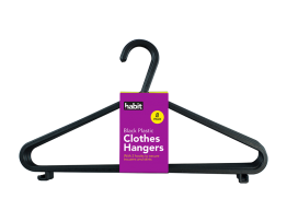 Plastic Clothes Hangers - 8 Pack