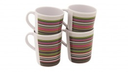 Blossom Mug Set,  Magnolia Red, Pogonia Green, Columbine Blue